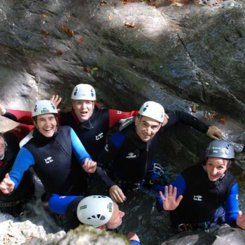 Activité canyoning groupe